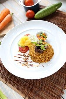 Costelas de arroz frito