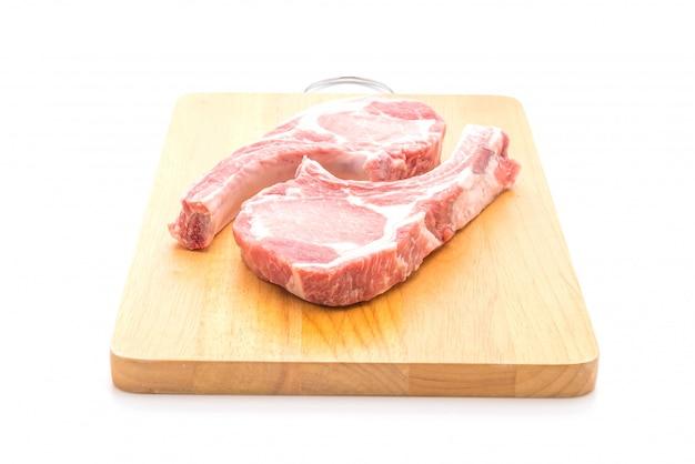 Costeleta de porco crua