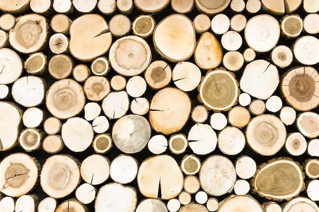 Coto de madeira de teca redondo