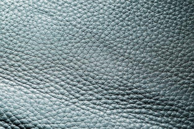 Couro azul escuro em close-up extremo