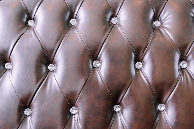 Couro de close-up da superfície de textura de sofá