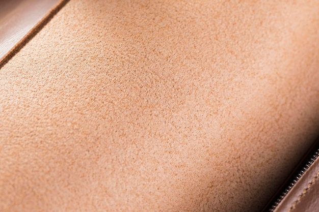 Couro de qualidade extremamente close-up em marrom gradiente