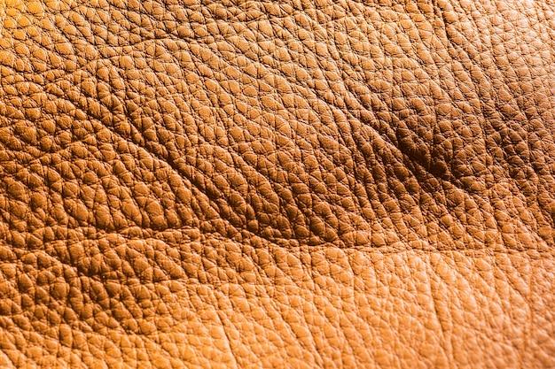 Couro marrom vintage em close-up extremo