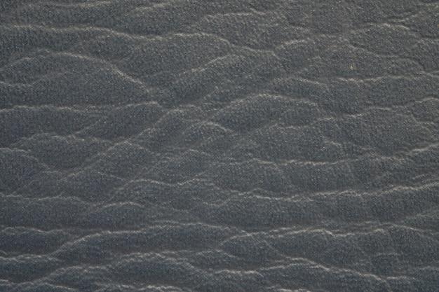 Couro preto de superfície do close up do fundo velho da textura da carteira