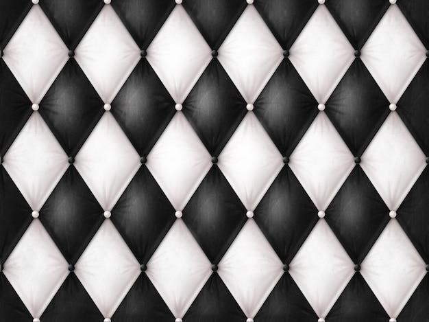 Couro preto e branco luxuoso