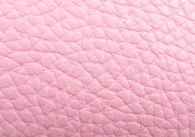 Couro rosa pastel como pano de fundo de textura de couro