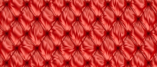 Couro vermelho tufado