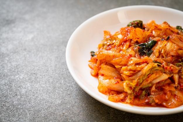 Couve kimchi no prato - comida tradicional coreana