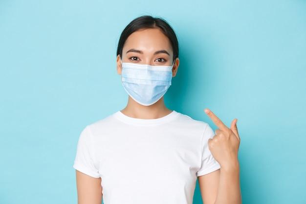 Covid-19, distanciamento social e conceito de pandemia de coronavírus.