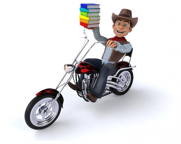 Cowboy divertido com livros