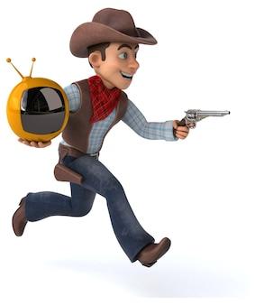 Cowboy divertido - personagem 3d