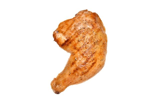 Coxa de frango grelhado isolada em superfície branca