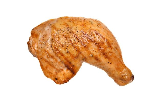 Coxa de frango grelhado isolada no fundo branco