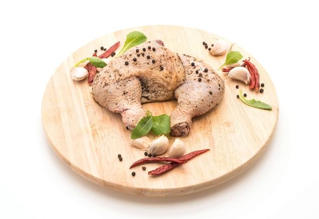 Coxa de frango marinado