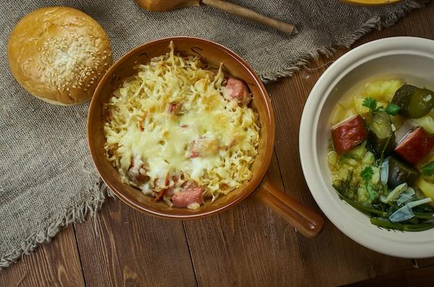 Cozinha bávara, caçarola de chucrute tradicional alemã