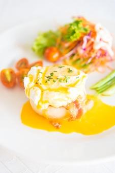 Cozinha cebolinha inglês brunch de salmão