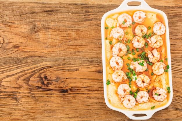 Cozinha chinesa: camarão cozido no vapor com tofu