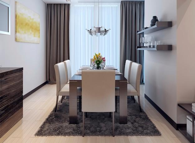 Cozinha de jantar estilo moderno