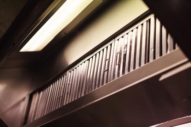 Cozinha exaustor (exaustor, exaustor), dispositivo contendo ventilador mecânico