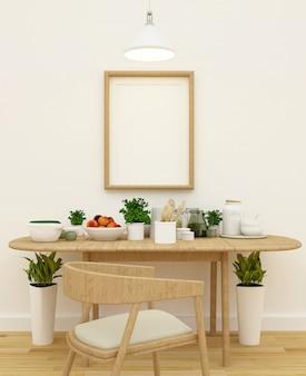 Cozinha, jogo, em, copa, área, e, quadro, para, artwork, -, 3d, fazendo