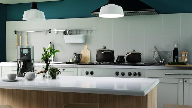 Cozinha moderna de pôster interior