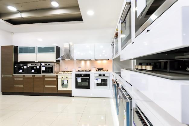 Cozinha moderna oi-tek, design de interiores limpo