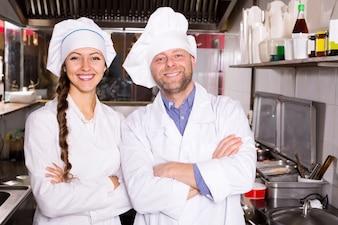 Cozinha na cozinha profissional