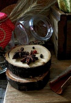 Cozinha rústica de especiarias