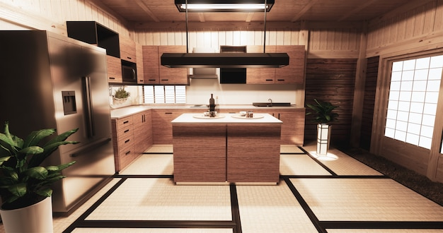 Cozinha sala estilo japonês