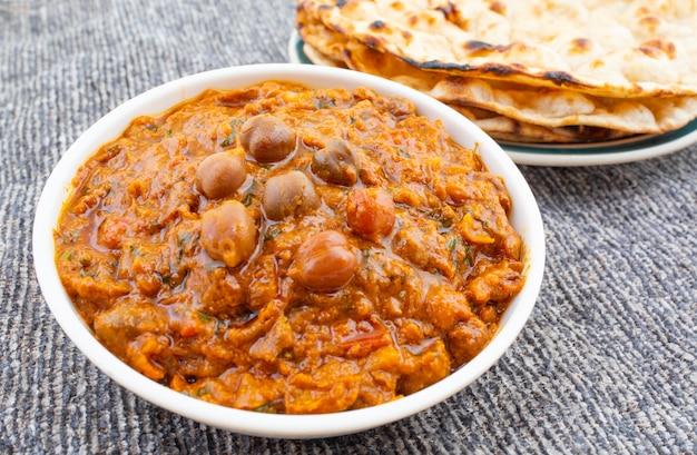 Cozinha saudável indiana chana masala