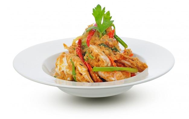 Cozinha tailandesa, caranguejo frito com caril em pó