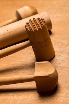 Cozinha. utensílio de madeira