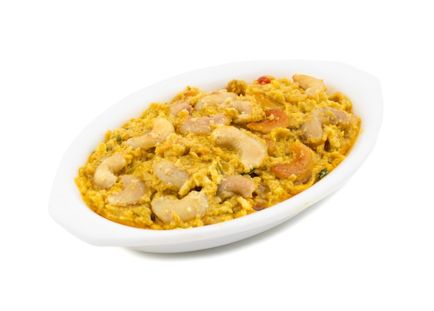 Cozinha vegetariana indiana kaju curry