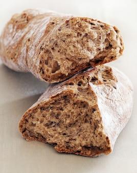 Cozinhando. pão delicioso feito de bom trigo