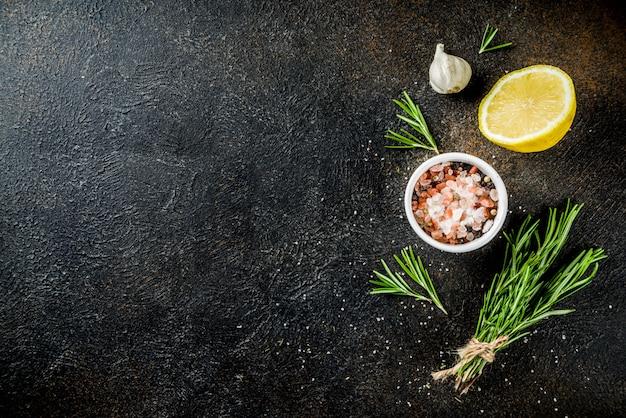 Cozinhar ingredientes alimentares