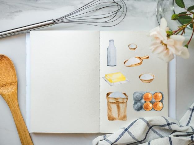 Cozinhar para bolos caseiros. comida deliciosa e saudável