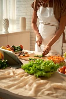 Cozinhar prato saudável