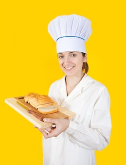Cozinhe com fatia de pão