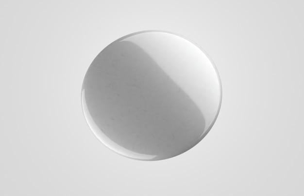Crachá 3d branco em branco minimalista