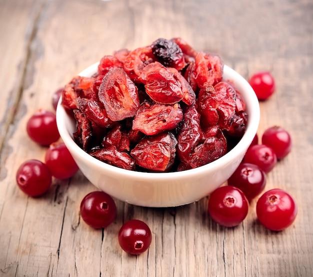 Cranberries doces com cranberries secas
