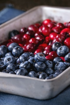 Cranberries e mirtilos