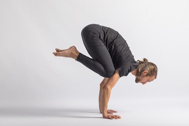 Crane pose yoga posture asana
