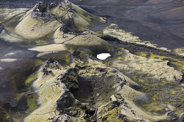 Crateras laki ou lakagígar é uma fissura vulcânica no sul da islândia