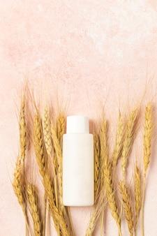 Creme cosmético natural com extrato de trigo