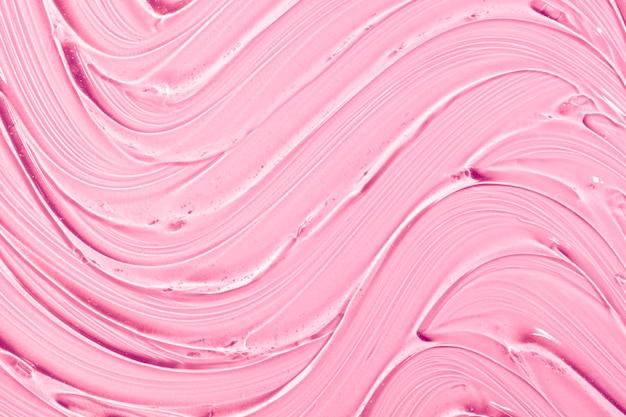 Creme gel rosa transparente amostra cosmética textura ondas de fundo