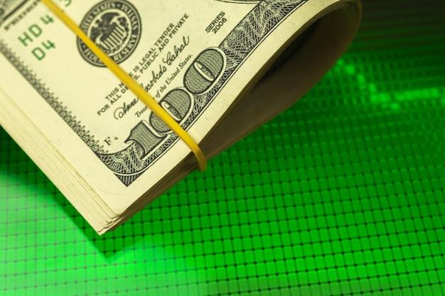 Crescimento da moeda do dólar, foto do conceito de economia de investimento financeiro e sucesso financeiro