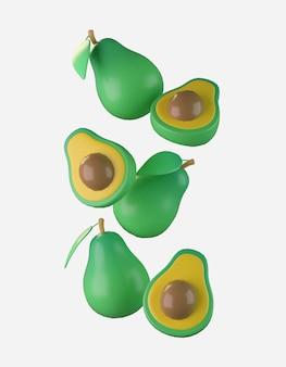 Criador de cena de abacate 3d render