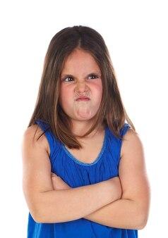 Criança pequena com raiva