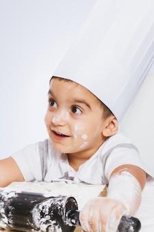Crianças, tocando, cozinha