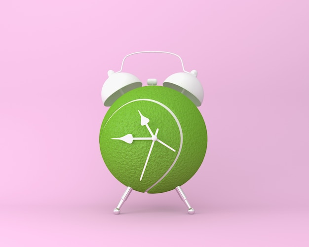 Criativo de bola de tênis despertador